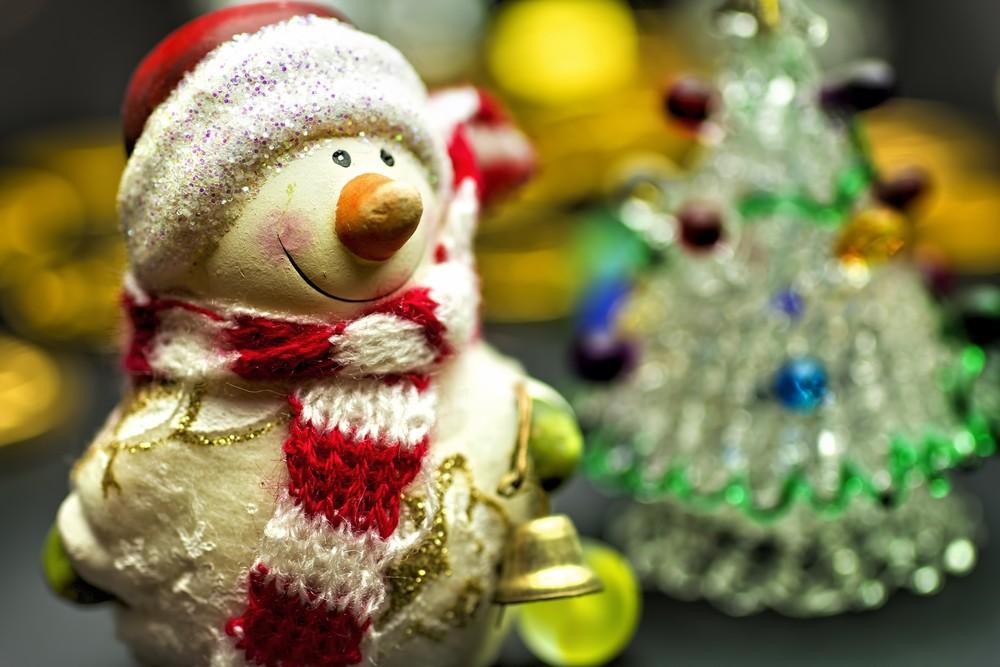 クリスマス(雪だるまとツリー)