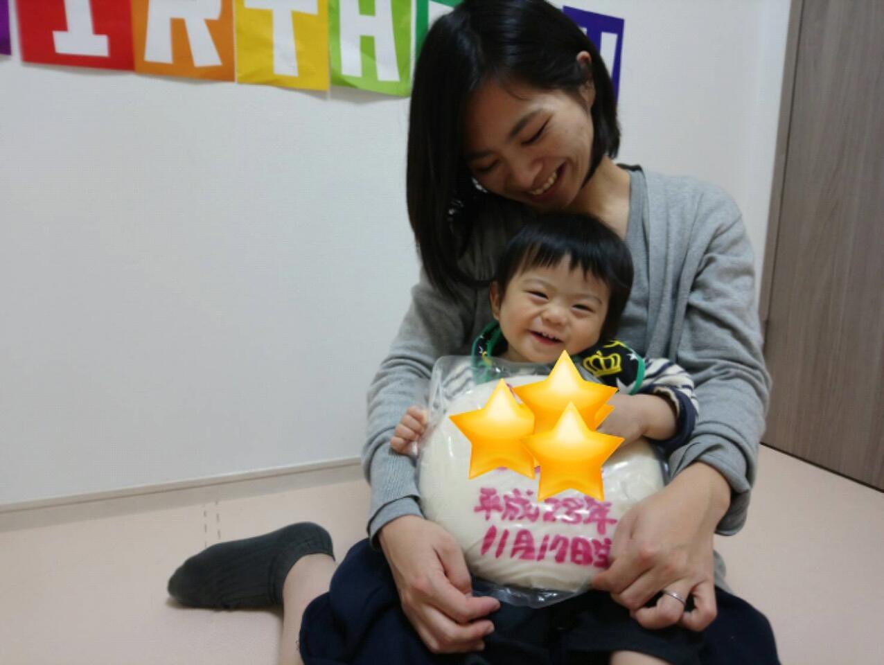次男1歳!誕生日ケーキと一升餅イベントでお祝い+上田病院の1歳の誕生日会^^